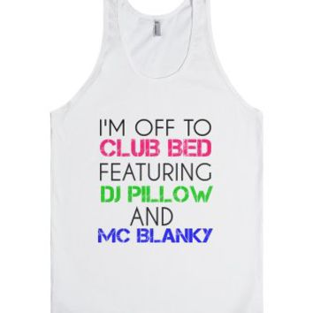 club bed-Unisex White Tank