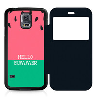 Watermelon Hello Summer Flip Samsung Galaxy S5 Case