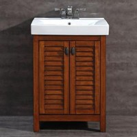 Camden 24 in. Vanity in Pine with Vitreous China Vanity Top in White BFCAMDEN24 at The Home Depot - Mobile