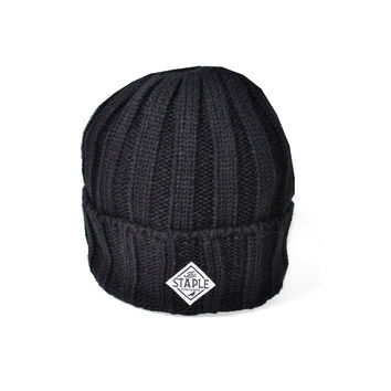 Cable Beanie In Black