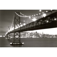San Francisco-Gate Bridge in Black and White, Photography Poster Print, 24 by 36-Inch