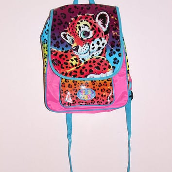 90s Lisa Frank Hunter Leopard Cheetah Backpack