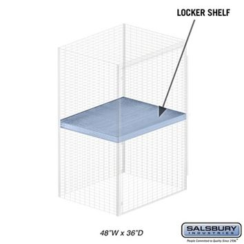 Salsbury Industries Shelf - for Bulk Storage Locker - 48 Inches Wide - 36 Inches Deep