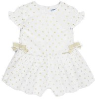 Mayoral Baby Girls' Champagne Polka Dot Onesuit