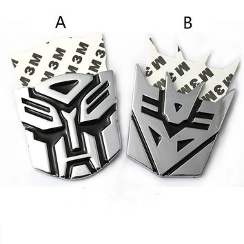 Transformers car Decoration Sticker Logo Zinc alloy 3D Autobot Decepticon Emblem Badge
