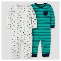 Baby Boys' 2pk Jumpsuit - Just One You™ Made by Carter's® Blue Stripes