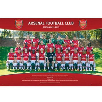 Arsenal Gunners FC 2012 - 2013 Squad Poster English Premier League new Soccer EPL