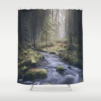 Silent whispers Shower Curtain by HappyMelvin | Society6