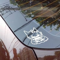 Baby Batman Cute car stickers  Vinyl Car Decal Sticker / reflective tape stickers (Color: Silver white)