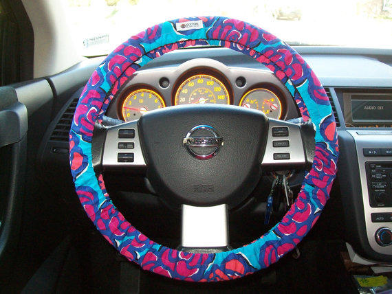 Lilly Pulitzer Steering Wheel Cover from mammajane on Etsy
