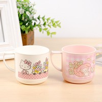Cartoon Round Plastic Cups Hello Kitty Cup Practica Environmental Protection, No Toxicity To Human Body And No Harm To Health