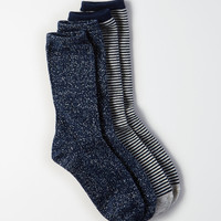AEO Crew Socks 2-Pack, Navy