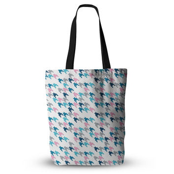 """Project M """"Pink Tooth"""" Blush Blue Everything Tote Bag"""