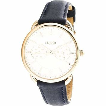 Tailor Rose-Gold Japanese Quartz Fossil Watch For Women