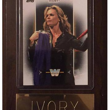 "Ivory 4"" x 6"" WWE Women's Legend Wrestling Plaque"