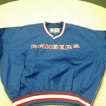 NEW YORK RANGERS RETRO STARTER PULLOVER WINDBREAKER JACKET