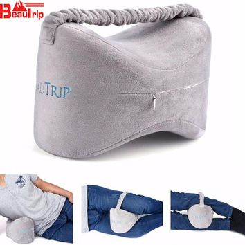 Positioning Body Pillows Sleeping Bolster Under Knee Pillow Case Orthopedic Posture Supporter Leg Cushion for Back Pain Support