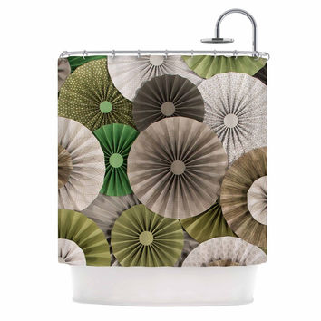 "Heidi Jennings ""Forest"" Green Abstract Shower Curtain"