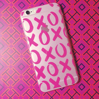 Pink XOXO Iphone 6 Silicone Case