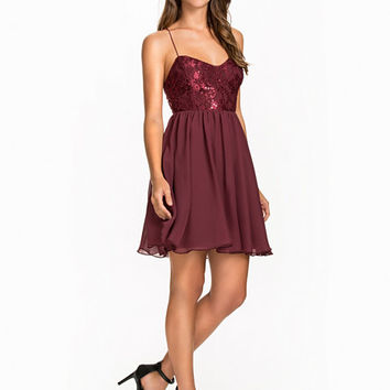 Shimmery Flare Dress, NLY One