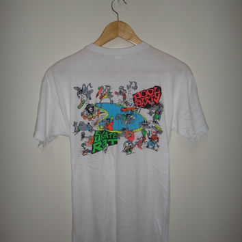 Vintage SKATE RAT Pool Party Skateboard T Shirt 1980s Skates Tee Rare