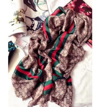 GUCCI Fashion Women Silk Scarf  Cape Scarf Scarves