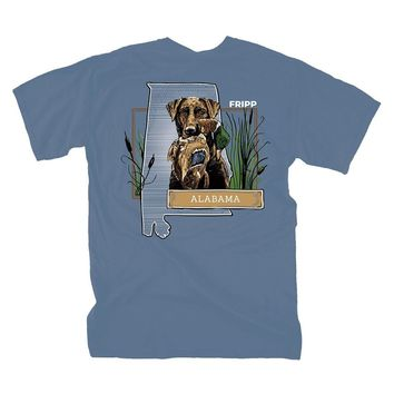 Dog & Duck Alabama T-Shirt in Marine Blue by Fripp Outdoors
