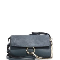 Chloé - Faye Small Suede & Leather Shoulder Bag