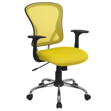 Mid-Back Mesh Swivel Task Chair with Chrome Base