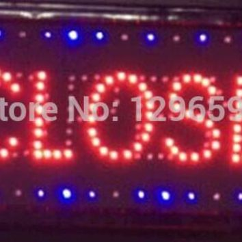 2017 hot sale custom led sign 10X19 inch indoor Ultra Bright flashing led light display business store closed & open signage