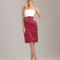 Allure Bridesmaids Dress 1280 Short Two-Tone