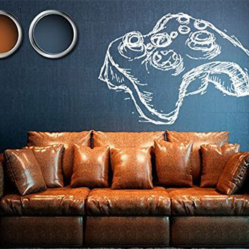 Wall Decal Gamer Xbox Loading Controller Games Sticker Home Decor Customized For Kids Bedroom Vinyl Wall Art Decals (us016)