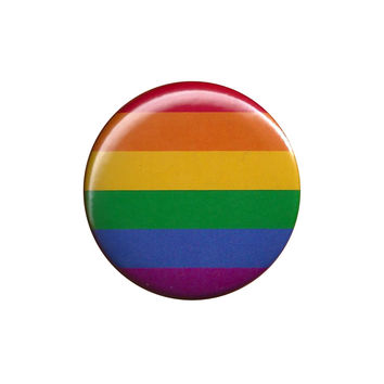 Rainbow Pride Flag Pinback Button Badge