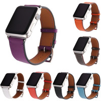 Genuine Leather Watch Strap for Apple Watch Single Tour Top layer Leather Band for Series 2 iWatch 1st 2nd Replacement Wristband