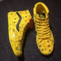 Best Online Sale Vans X Peanuts Sk8 Hi Snoopy Yellow Sneaker Shoes