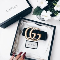 GUCCI More color  and more length Woman Men Fashion Smooth Buckle Belt Leather Belt