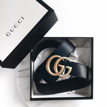 DCCKB62 GUCCI Woman Men Fashion Smooth Buckle Leather Belt