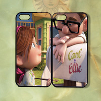 Carl and Ellie Couple Case UP-iPhone 5, iphone 4s, iphone 4 case, ipod 5, Samsung GS3-Silicone Rubber or Hard Plastic Case, Phone cover