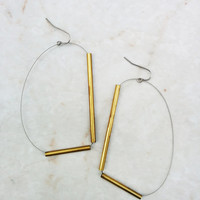Minimalist Tube Metal Earrings