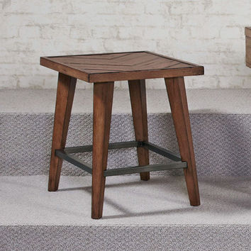 Hammary Boardwalk Rectangular End Table in Distressed Medium Brown