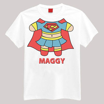 Super Girl Personalized Shirt Your Name On Shirt Headless Shirt Cartoon Body Shirt