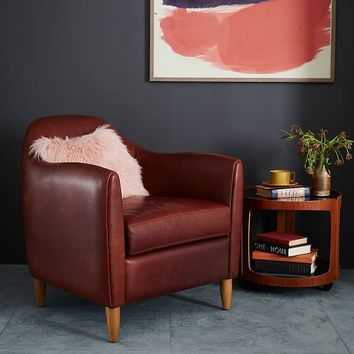 Ralf Leather Club Chair