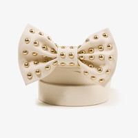 Studded Bow Waist Belt