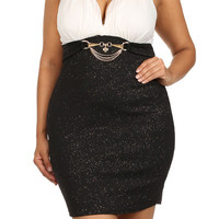 Chiffon Halter Mini Dress - WHITE - PLUS SIZE - 1X - 2X - 3X