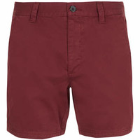 Burgundy Cotton Chino Shorts - Men's Shorts - Clothing