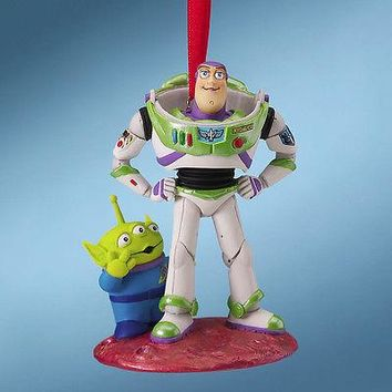 Licensed cool NEW 2010 DISNEY STORE Toy Story Buzz Lightyear Space Alien Christmas Ornament