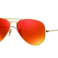 Ray-Ban AVIATOR FLASH LENSES Gold ,Polarized Lenses - RB3025 | Ray-Ban® USA