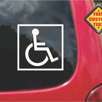 Handicap Accessible ADA Wheelchair Sticker Decal 20 Colors To Choose From.