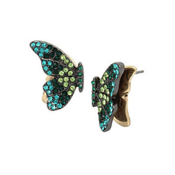 BUTTERFLY DREAMS GREEN STUD EARRINGS: Betsey Johnson