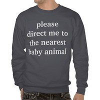 baby animal pull over sweatshirt from Zazzle.com